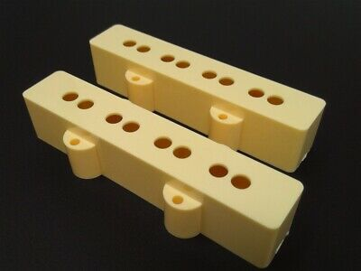 True Custom Shop® Cream Neck & Bridge Pickup Cover Set for Fender Jazz Bass