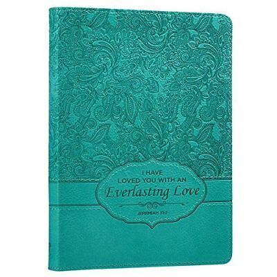 "Turquoise ""Everlasting Love"" Flexcover Journal - Jeremiah 31:3"