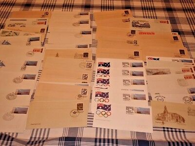 FDC Australia Large Lot of Cancelled Postage Paid Envelopes PSE