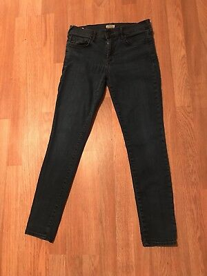 True Religion Womens Halle Super Skinny Mid Rise Jeans Dark Wash Size 29