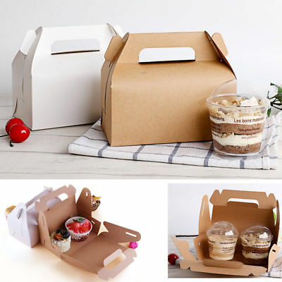 50pcs Paper Gable Boxes Candy Cake Box Wedding Shower Birthday Party Gift Bag