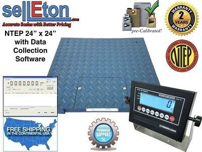 """NEW NTEP Legal  24"""" x 24"""" Floor scale pallet 5000 x 1 lb with Data col. Software"""