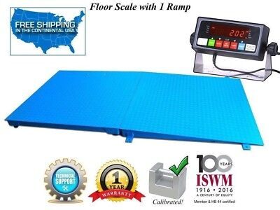 """72"""" x 48"""" ( 6' x 4') Industrial Floor Scale with a Ramp l 20,000 lbs x 1 lb"""