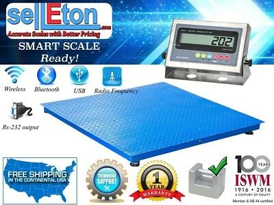 """NEW Industrial 60"""" x 60"""" Floor scale / Pallet size / SS indicator 2500 x .5 lb"""