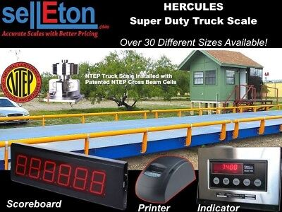 Truck Scale 25 x 10 ft Truck Scale 85000 lb Steel Deck NTEP APPROVED