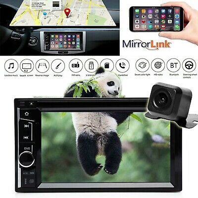 "6.2"" 2DIN Car Stereo Radio DVD Player Bluetooth+ Camera For Chevy Silverado 1500"