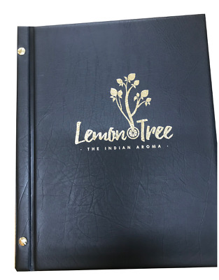 A4 Two Part Leather Look PVC Menu Covers + 3 Pockets with Customised Print (20)