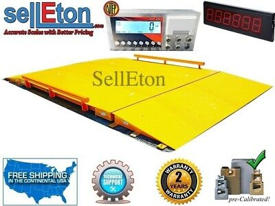Industrial 10' x 10' NTEP Legal for trade Axle Truck cargo Scale with 60,000 lbs
