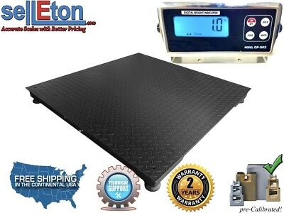 "60"" x 60"" (5' x 5') Floor Scale / Pallet Size with RS-232 port 2500 x  .5 lb"