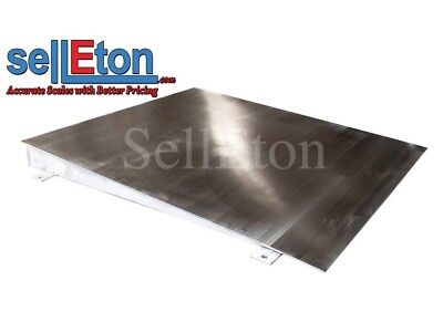 "OP-750SS-4x3 Stainless steel Ramp for floor scale 48"" x 40"" x 4"" 5000 cap."