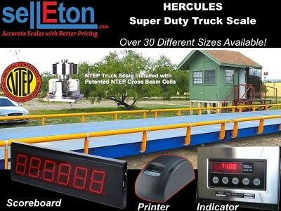 Truck Scale 10 x 12 ft Truck Scale 85000 lb Steel Deck NTEP APPROVED