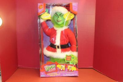 Dr. Suess's How The Grinch Stole Christmas Transforming Talking Grinch 2000 Nib
