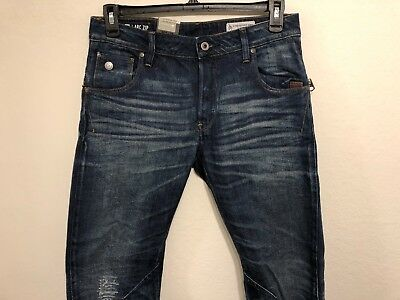 65307245245 G-STAR RAW ARC ZIP 3D SLIM Jeans Men Briga Denim Dark Aged Restored 31x32