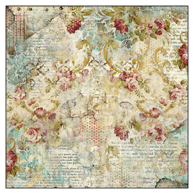 1 Decoupage Reispapier Serviette DFT327 time is an illusion floral texture
