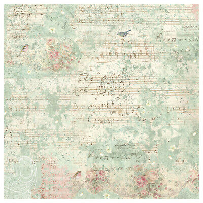 1 Decoupage Reispapier Serviette DFT330 Sweet Christmas Music and Sparrow