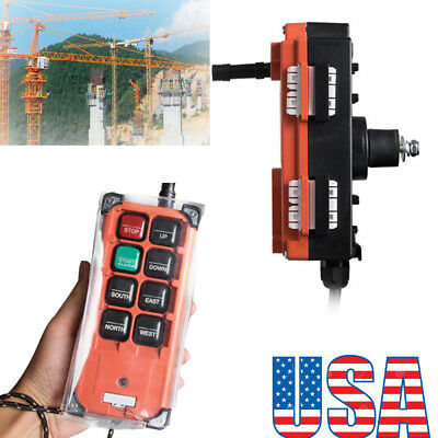 12/24V Industrial Transmitter&Receiver Hoist Crane Radio Wireless Remote Control