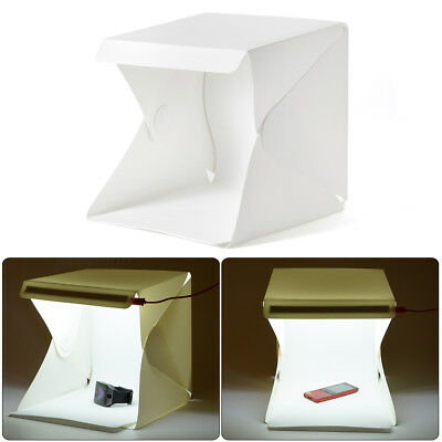 Light Box Photo Studio Photography Mini Cube Tent + White/Black Backdrop LF755