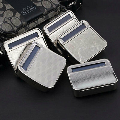 Metal Automatic Cigarette Tobacco Roller Roll Rolling Machine Box Case Tin PG
