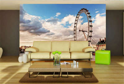 Concise Sky Wheel 3D Full Wall Mural Photo Wallpaper Printing Home Kids Decor