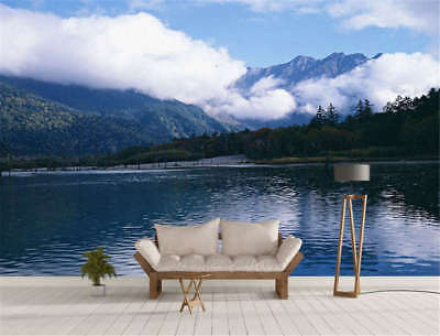 Blue Concise Lake 3D Full Wall Mural Photo Wallpaper Printing Home Kids Decor