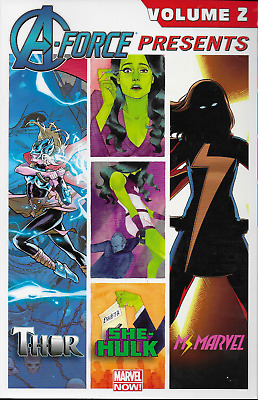 A-Force Presents Vol 2 with Ms. Marvel, She-Hulk & Thor 2015, TPB Marvel OOP