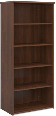 Standard bookcase 1790mm high in walnut