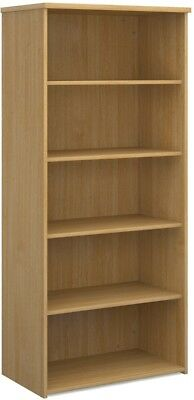 Standard bookcase 1790mm high in oak