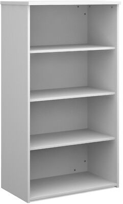 Standard bookcase 1440mm high in white