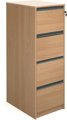 Four drawer filing cabinet in beech