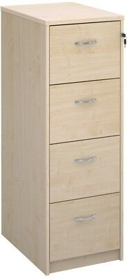 Deluxe executive four drawer filing cabinet in maple