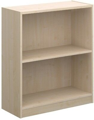 Economy bookcase 725mm high in maple