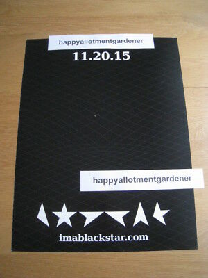 David Bowie Blackstar Single Release Official Promo Flyer / Poster 2015
