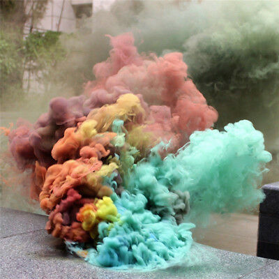 7 Colors Smoke Cake Smoke Effect Show Round Bomb Photography Aid Toy Gift GT54R