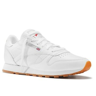 Reebok Classic Leather Girls Womens Trainer White UK Size 7 RRP £65/-