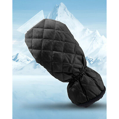 Ice Scraper Mitt For Car Windshield Snow Scrapers with Waterproof Glove, Black