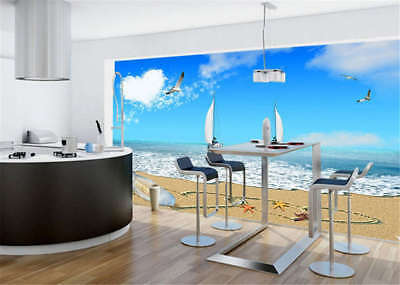 Remote Sober Ship 3D Full Wall Mural Photo Wallpaper Printing Home Kids Decor