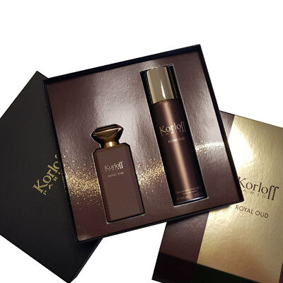 COFFRET KORLOFF ROYAL OUD EAU DE PARFUM 88ml + DEODORANT SPRAY 150ml