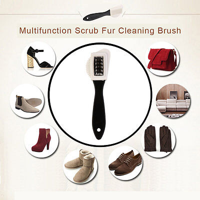 Multifunction Scrub Fur Cleaning Brush Portable Snow Boots Suede Shoe Cleaner NH