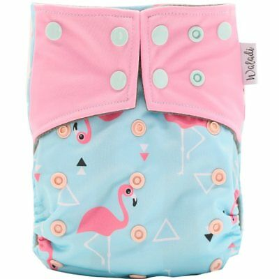 Flamingo Design Bamboo Charcoal Cloth Nappy