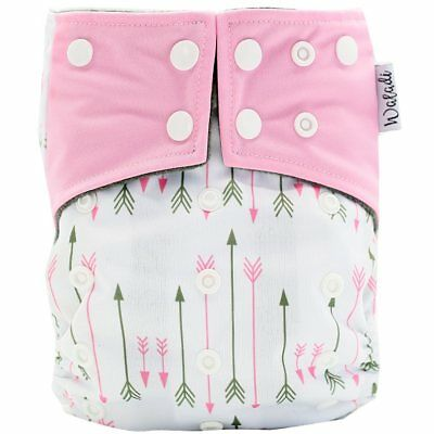 Pink Arrows Design Bamboo Charcoal Cloth Nappy