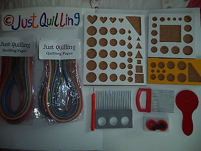 Paper Quilling All tool sets ,slotted tool, Mega tool set two tone set