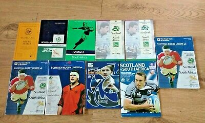 Scotland v South Africa Rugby Union Programmes 1951 - 2007