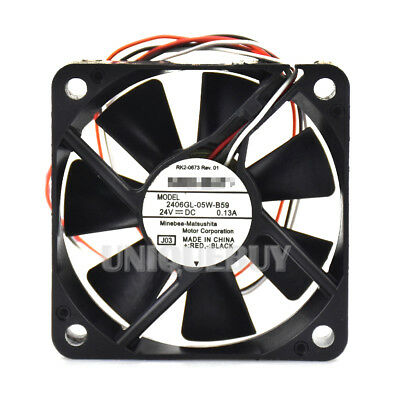 for NMB-MAT 2406KL-05W-B59 60*60*15mm 24V 0.13A Cooling Fan 3pin