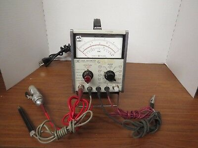 + HP Agilent 410C Multi-Mode Voltmeter WITH PROBES