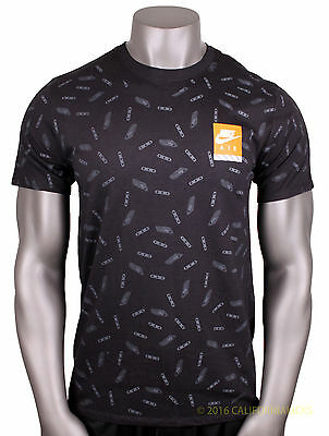 0d1919af4 NIKE Max All Over Print T-Shirt sz XL X-Large Black Air Day