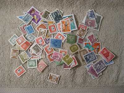 Lot of 100 different  Hungary Old Stamps Used off paper #3