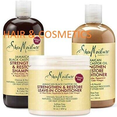 Shea Moisture Jamaican Black Castor Oil Shampoo/Conditioner/Masque all products