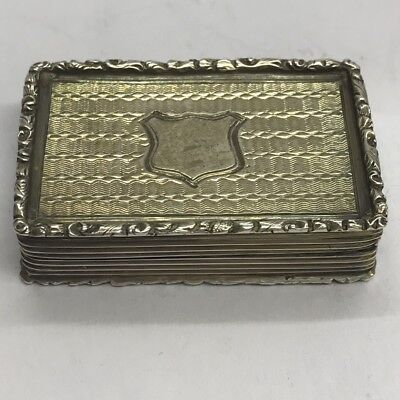 Antique Victorian Solid Silver Vinaigrette Francis Clark 1841 Good Example 38mm