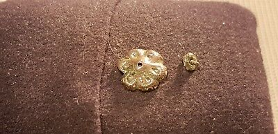 Superb Post Medieval copper alloy flower mount found in England 1970s L38k
