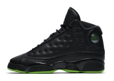 "Youth (GS) Air Jordan 13 Retro ""Altitude"" Black/Altitude Green 414574-042"